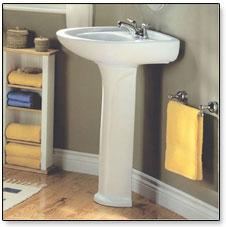 Delightful American Bathroom Pedestal Sinks