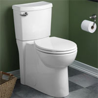 American Standard 2988.101 Cadet 3 Two Piece Round Toilet