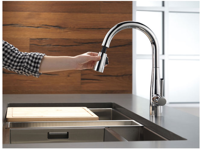 Delta 9113 DST Essa Chrome Kitchen Faucet