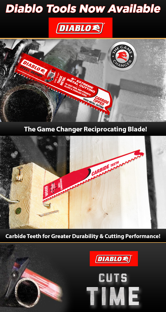 The Game Changer Carbide Tipped Reciprocating Blade by Diablo Tools