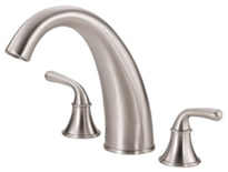 Danze D303656BNT Bannockburn Roman Tub Filler Trim Kit Brushed Nickel
