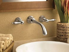 Danze D316240BN Fairmont Two Handle Wall Mount Lavatory Faucet Brushed Nickel