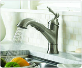 Danze D455040SS Fairmont Single Handle Pull Out Kitchen Faucet Stainless Steel
