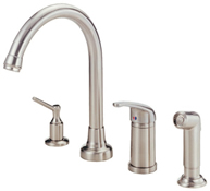 Danze D409012SS Melrose High Rise Kitchen Faucet With Spray Stainless Steel