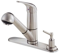 Danze D455612SS Melrose Classic Single Handle Pull Out Kitchen Faucet Stainless Steel