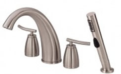 Danze Sonora Roman Tub Faucet With Soft Touch Personal Shower