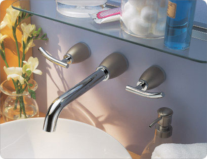 Danze Sonora Two Handle Wall Mount Lavatory Faucet