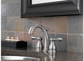 Delta Leland Two Handle Mini Widespread Lavatory Faucet