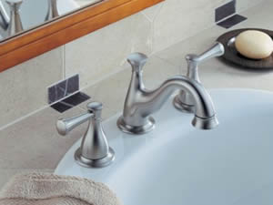 Delta Lockwood Two Handle Widespread Lavatory Faucet