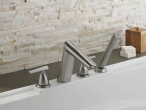 Delta Rizu Roman Tub Faucet With Hand Shower