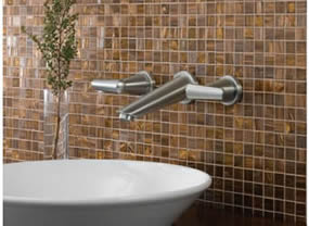 Delta Rizu Two Handle Wall Mount Lavatory Faucet