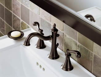 Delta Vessona Two Handle Widespread Lavatory Faucet