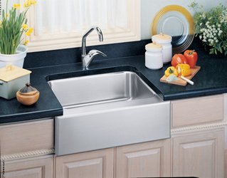 Elkay ELUHF2520 Gourmet Lustertone Undermount Single Bowl Kitchen Sink With Apron Stainless Steel