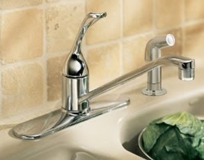 Kohler Coralais Loop Handle Single Control Kitchen Faucet With Sidespray