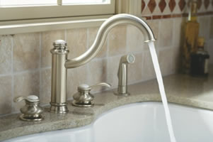 Kohler Fairfax High Spout Kitchen Sink Faucet With Sidespray