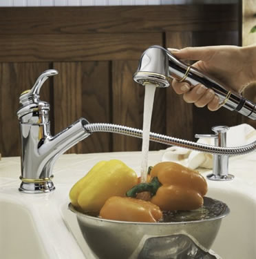 Ordinaire Kohler Fairfax Single Control Pullout Kitchen Sink Faucet