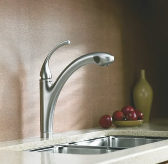 Kohler Forte Single Control Pullout Kitchen Sink Faucet With Lever Handle