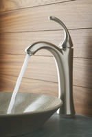 Kohler Forte Tall Single Control Lavatory Faucet With Sculpted Lever Handle