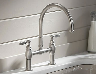 Kohler Parq Deck Mount Kitchen Bridge Faucet