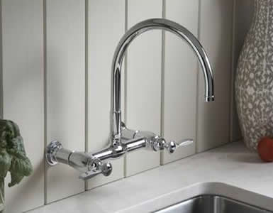 Kohler Parq Wall Mount Bridge Kitchen Faucet