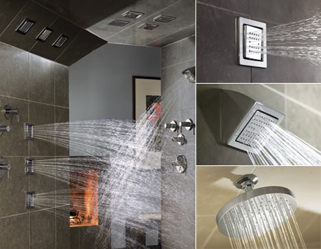 With their low-profile design, WaterTile showerheads provide a clean ...