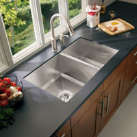 Moen Lancelot 16 Gauge Double Bowl Undermount Sink Stainless Steel