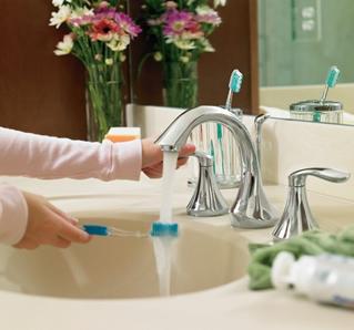 Moen Eva Two Handle High Arc Bathroom Faucet