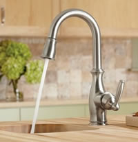 Moen 5985CSL Brantford Single Handle High Arc Pulldown Single Mount Bar Faucet Stainless
