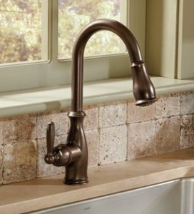 Moen 7185ORB Brantford Single Handle High Arc Pulldown Kitchen Faucet Oil Rubbed Bronze