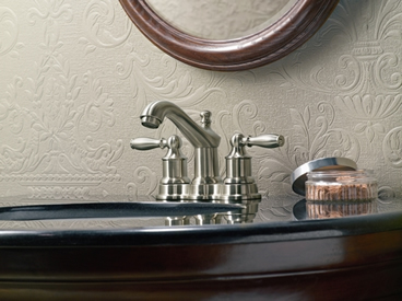 Moen Lindley Two Handle Low Arc Bathroom Faucet