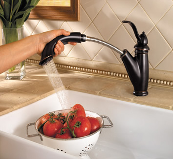 Pfister F-532-7PYY Marielle Single Control Pull Out Kitchen Faucet