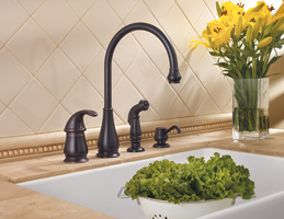 Pfister Treviso 4 Hole Single Control Kitchen Faucet