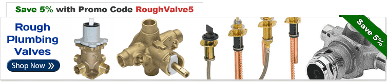 Save an Extra 5% on Rough Plumbing Valves with Promo Code RoughValve5