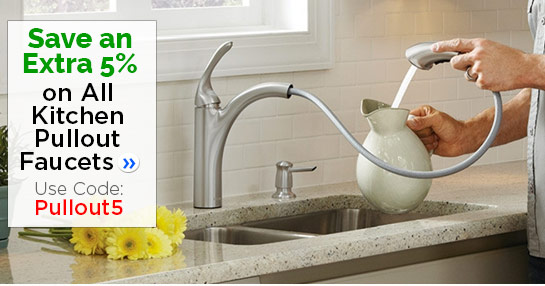 Save 5% on Kitchen Pullout Faucets