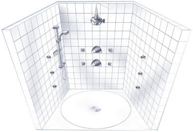 grohe ceiling u0026 three walls system