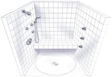 grohe opposite walls system with shower bench