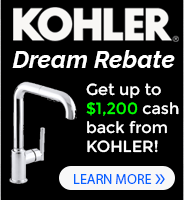 Kohler Faucets Dream Kitchen and Bath Rebate
