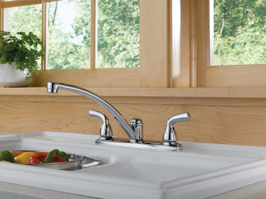 Delta B2310LF Foundations Core-B Two Handle Kitchen Faucet