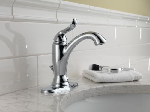 Delta 594-MPU-DST Linden Single Handle Lavatory Faucet with Metal Pop Up