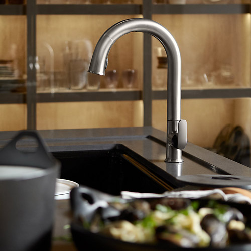 Kohler K-72218-B7-VS Sensate Touchless Pull Down Kitchen Faucet