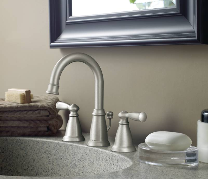 Moen CA84924SRN Banbury Two-Handle Widespread Lavatory Faucet
