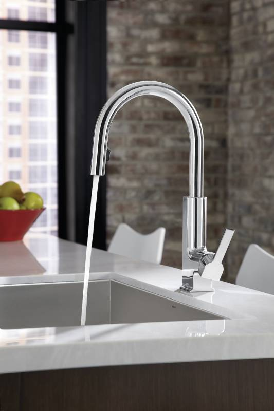 Moen S72308 STo Single Handle High Arc Pulldown Kitchen Faucet