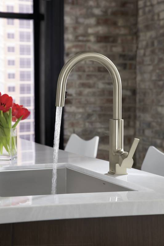 Moen S72308SRS STo Single Handle High Arc Pulldown Kitchen Faucet
