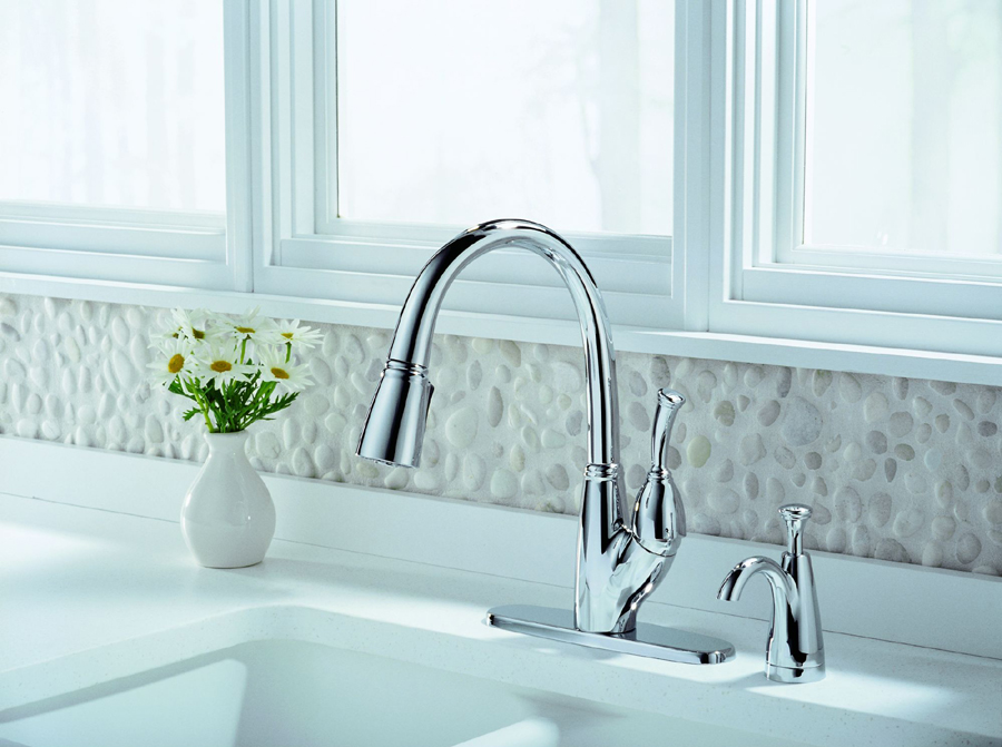 Delta 989-DST Allora Single Handle Pull-Down Kitchen Faucet with DIAMOND Seal Technology