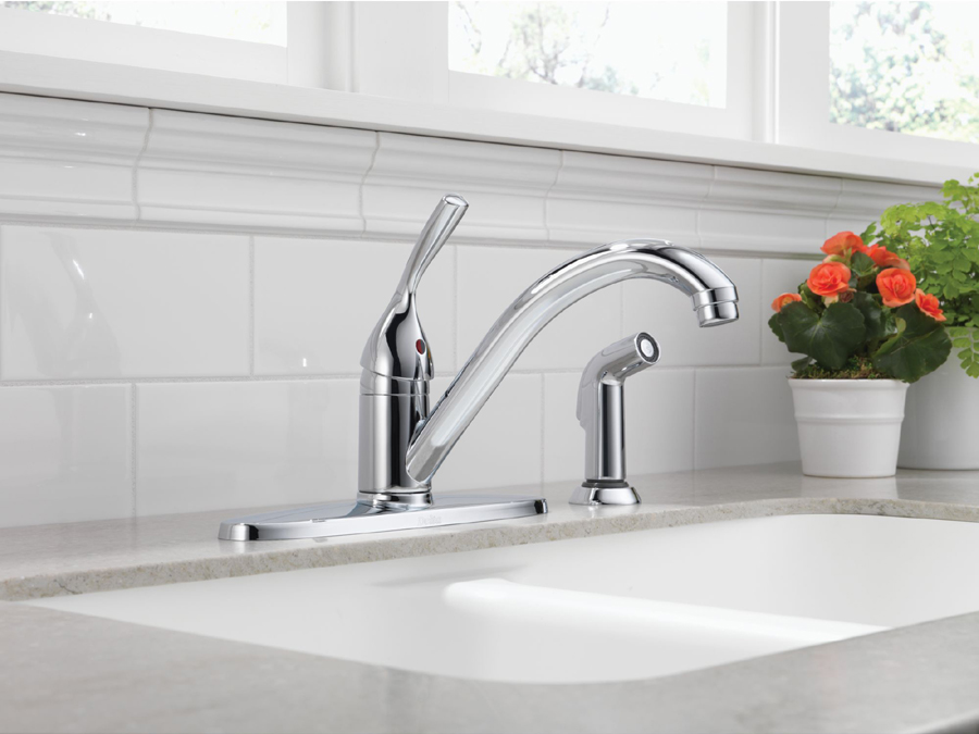 Delta 400-DST Classic Single Handle Kitchen Faucet