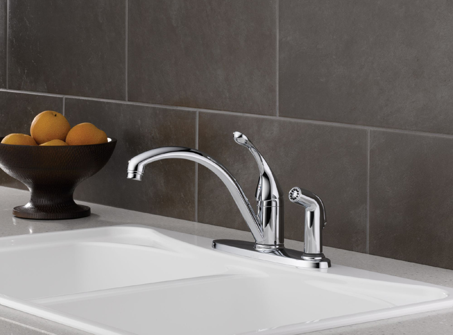 Delta 340-DST Collins Single Handle Kitchen Faucet