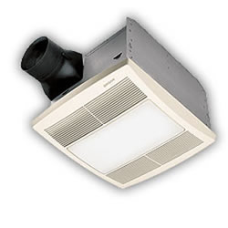 Broan QTR110L Ultra Silent Bath Ventilation Fan with Light