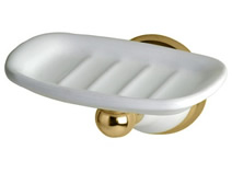 Gatco 5278 Franciscan Soap Dish Polished Brass