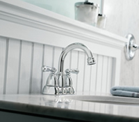 Moen Banbury Two Handle Low Arc Bathroom Faucet