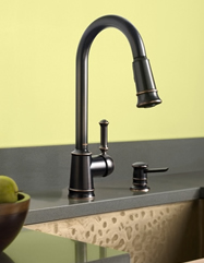 Moen Lindley One Handle High Arc Kitchen Faucet